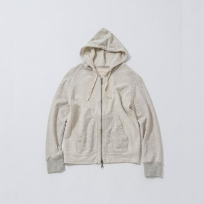 <V::room>Men's L/S Zip Hoody グレー