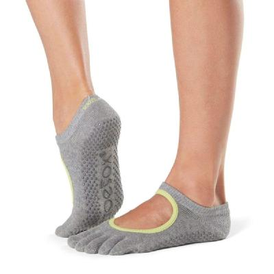 <ToeSox>Grip Full Toe Bellarina HeatherGray/Lime Trim Small (22.5�p〜24.5�p)