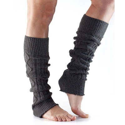 <ToeSox> Leg Warmers Knee High Charcoal Grey One Size