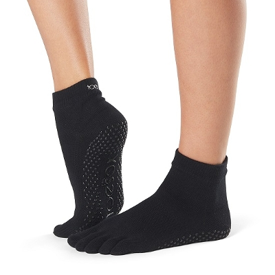 <ToeSox> Grip Full Toe Ankle Black Small